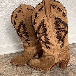 Miss capezio leather butterfly cowboy boots